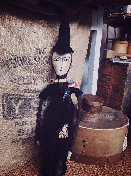 Primitive Folk Art Witch