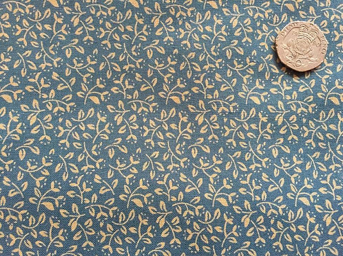 Pretty Blue Ditsy Cotton Fabric