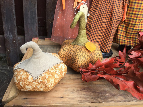 Homespun Fabric Pumpkins