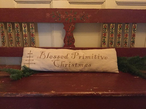 Blessed Primitive Christmas Pillow