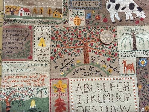 Rare Carol Endres Country Patchwork Fabric