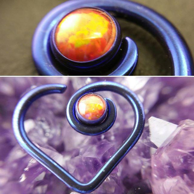 Niobium opal heart for a daith piercing!😊_#opal #niobium #daithjewelry