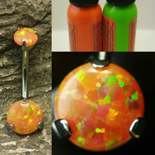 #opal #bellyring #bellypiercing #implantgradetitanium #internallythreaded #piercing #piercings #just