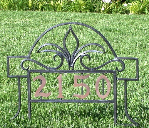 Address Plaque with Copper