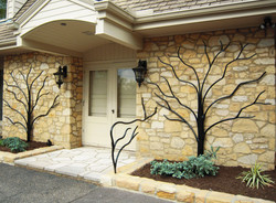 Tree Sculptures with Railing