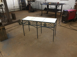 Floral Scroll Table