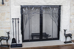 Fire Screen 7 with Fire Tools