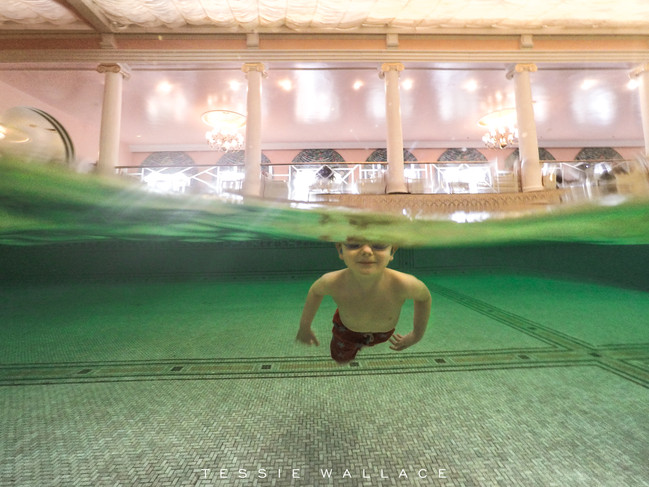 That time I almost didn't bring my camera to the indoor pool at the Greenbrier Resort (before &a