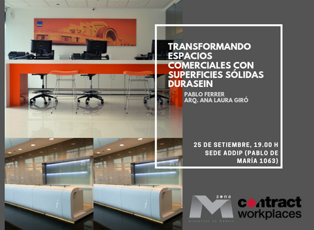 Charla técnica: Transformando espacios comerciales con las superficies sólidas Durasein