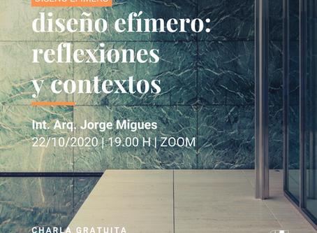 Diseño efímero: reflexiones y contextos