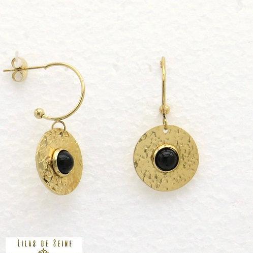 Boucles d'oreilles Lilas de Seine
