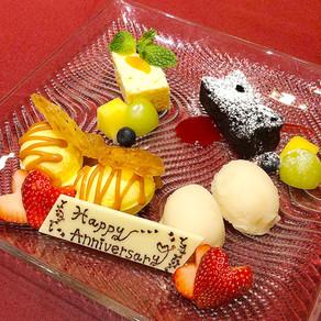 <誕生日・記念日でコースご利用のお客様>デザートをアニバーサリー仕様にグレードUPさせていただきます!