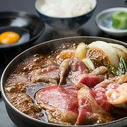 【大麦牛】お昼のすきやきセット