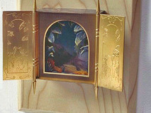 3-Dimensional Gold Plated Triptych Box Painting (No4)