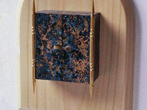 3-Dimensional Gold Plated Triptych Box Painting (No3)