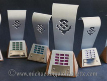 Set of 6 Trophies. Designed for the 1990 Scottish Computer User of the Year Awards, SECC Glasgow
