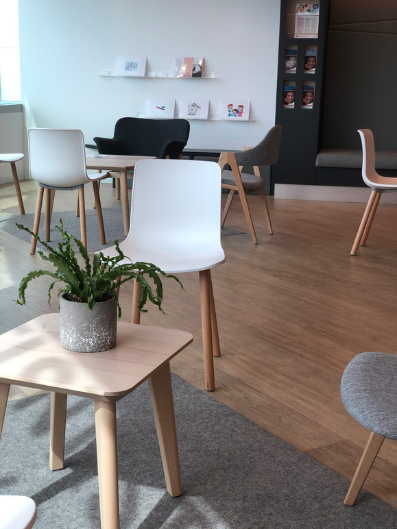 Plenty of space in our patient lounge