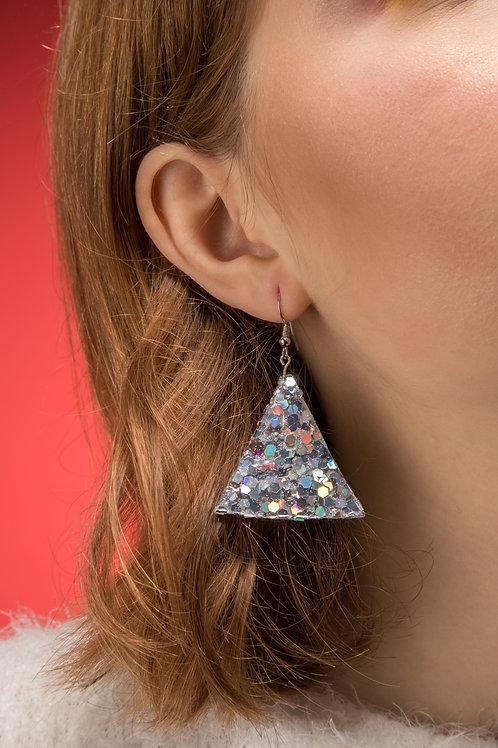 Small Disco Triangle Danglies