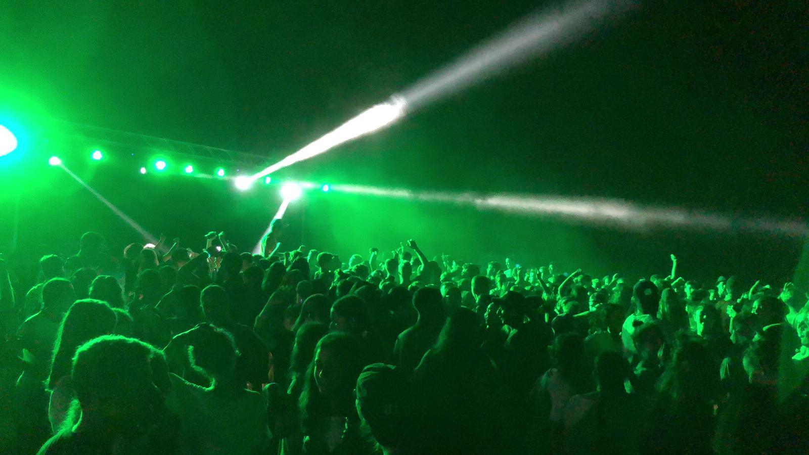 מסיבת נוער תאורה