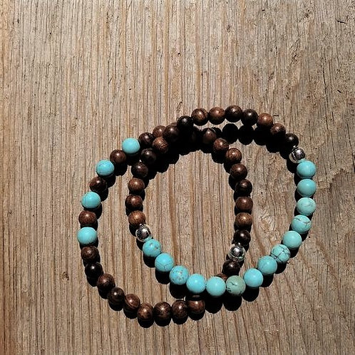 6mm Matte Turquoise Sandlewood