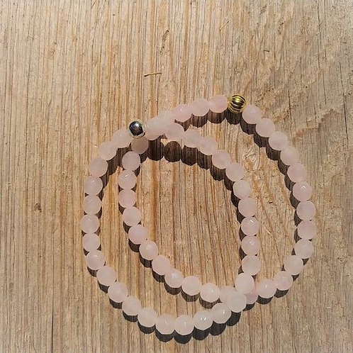 6mm Faceted Rose Quartz
