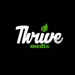 Thrive Media Logo 🍃 Info: These two col