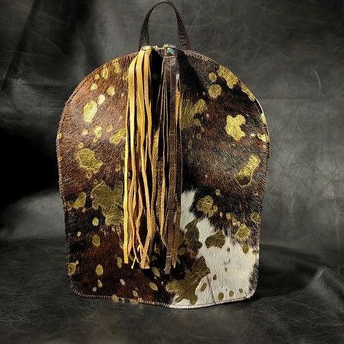 Backpack - Med Brindle Acid Wash Gold