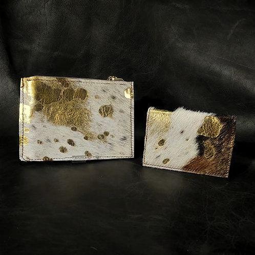 Coin and Card Holder -Med Brindle Gold & Acid Wash