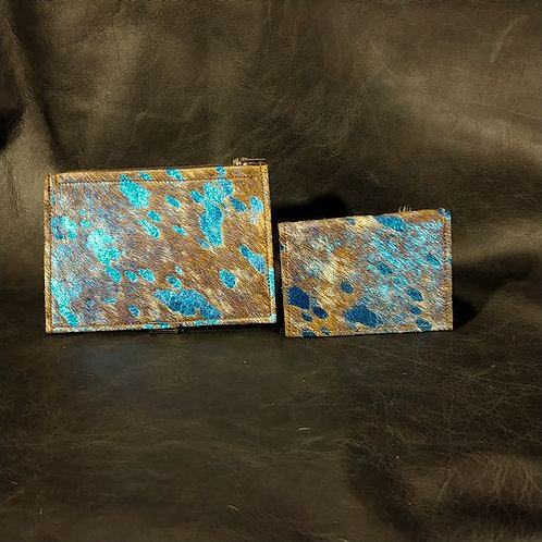 Coin and Card Holder -Blue Acid Wash
