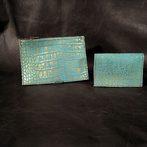 Coin and Card Holder -Turquoise
