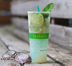 Lychee-Lime Mint Sparkling