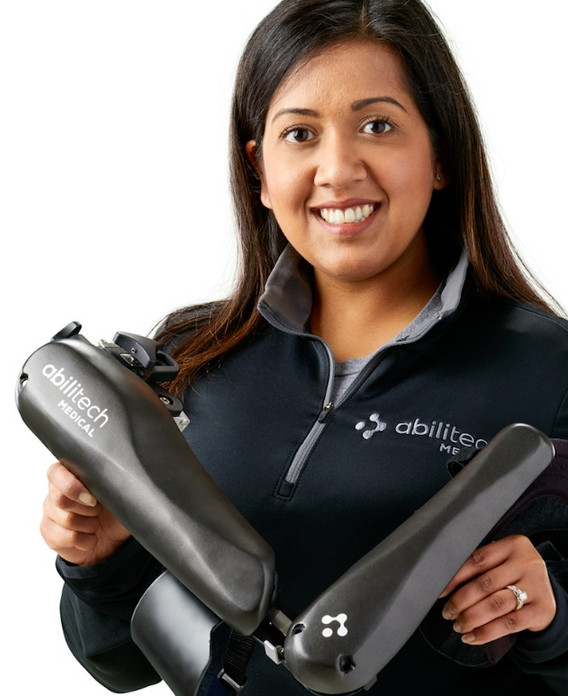 abilitech team member with abilitech assist device