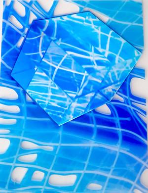 Blue Net Cube