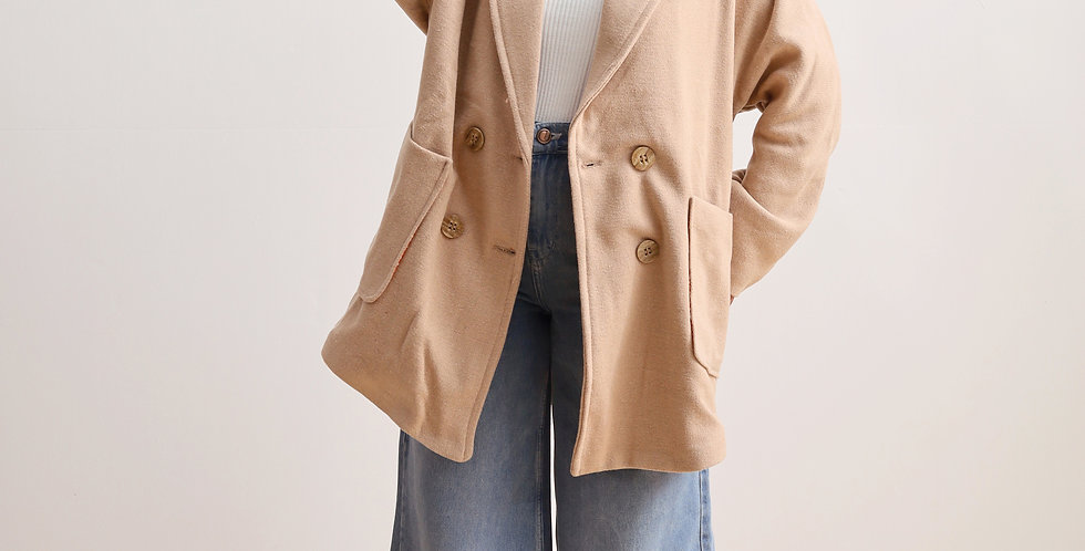 Oversized Jacket in Beige