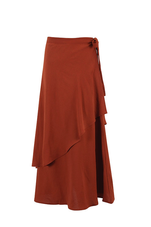 Brick Asymmetric Skirt