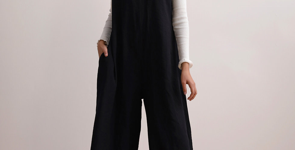 Oversized Jumpsuit in Black