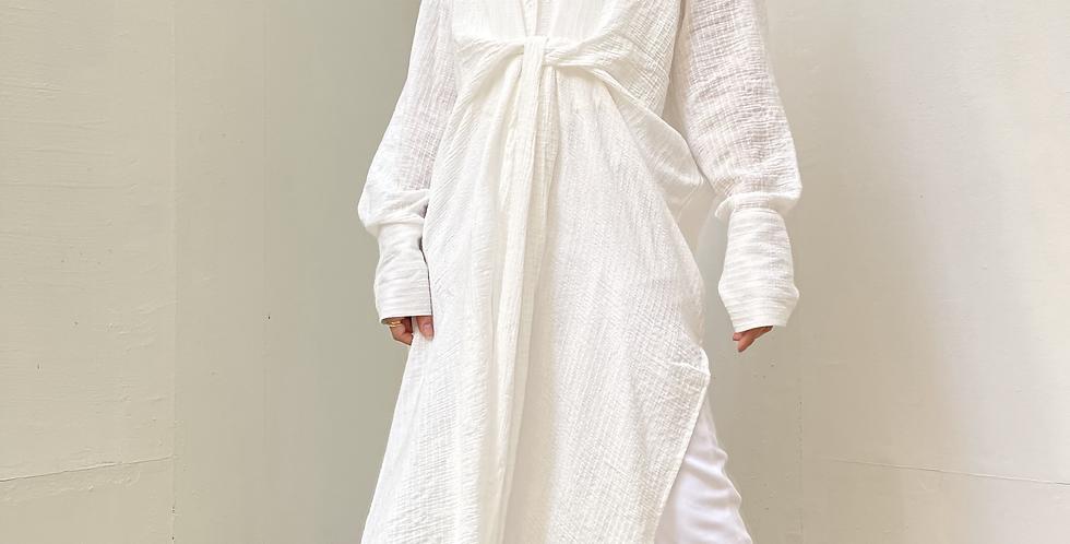 White Tie Wrap Shirt