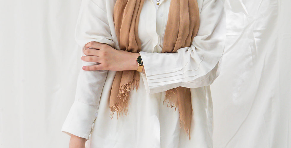 White Pleated Linen Shirt