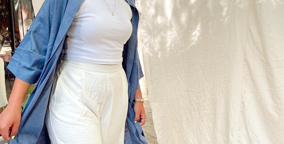 Navy Pocket Kimono