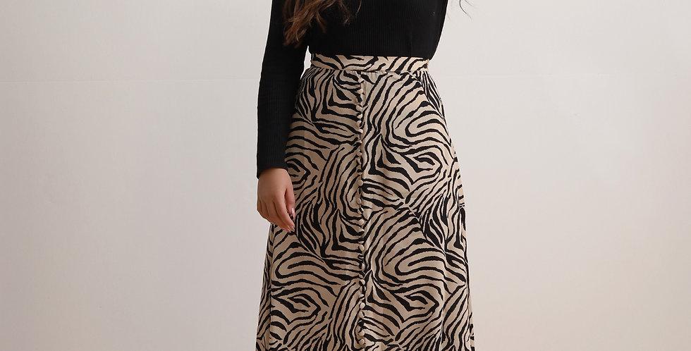 Beige Zebra Skirt
