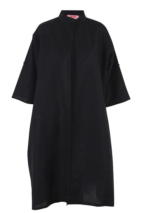 Black Linen Kimono