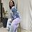 Thumbnail: Tie Dye Jumpsuit blend of blue, mint & purple