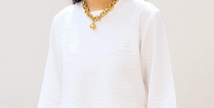 White Basic Crop Top
