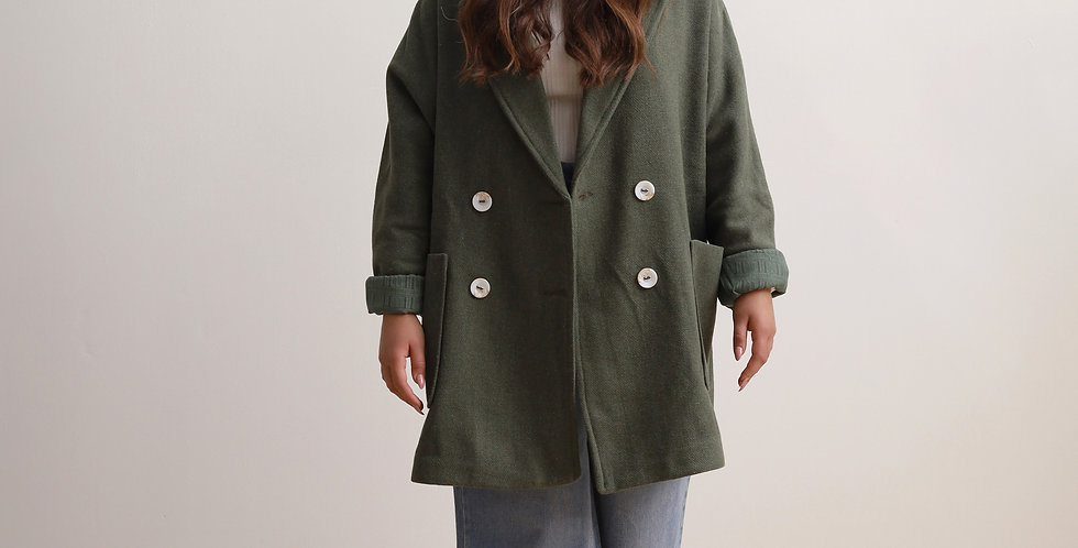 Oversized Jacket in Olive