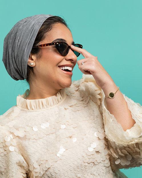 Mila Grey Turban
