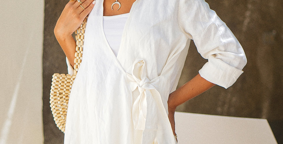 White Croise Top
