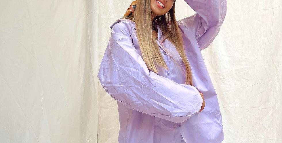 Lilac Puff Sleeve Shirt