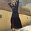 Thumbnail: Black Crushed Flowy Dress