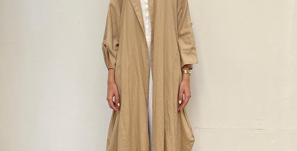 Camel Oversized Pocket Kimono