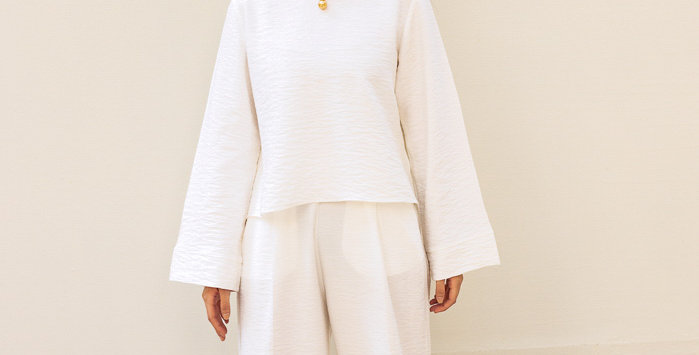 White Basic Pants